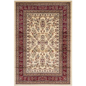 Safavieh Lyndhurst Hamadan 6 X 9 Red Black Floral Botanical Oriental Area Rug In The Rugs Department At Lowes Com