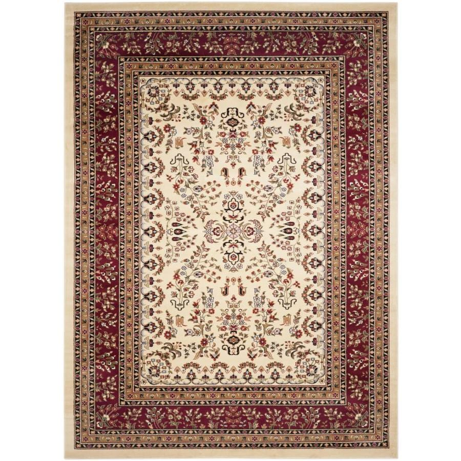 Safavieh Lyndhurst Hamadan Ivory/Red Rectangular Indoor Machine-made Oriental Area Rug (Common: 8 x 11; Actual: 8-ft W x 11-ft L)