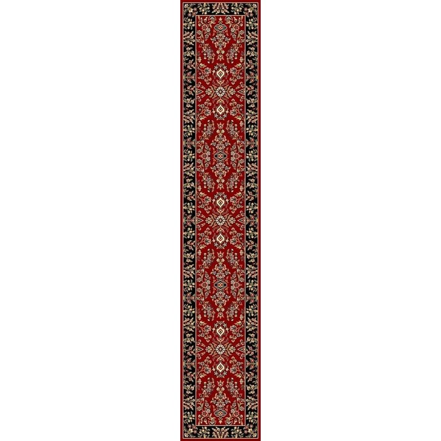 Safavieh Lyndhurst Hamadan Red/Black Rectangular Indoor Machine-made Oriental Runner (Common: 2 x 12; Actual: 2.25-ft W x 12-ft L)