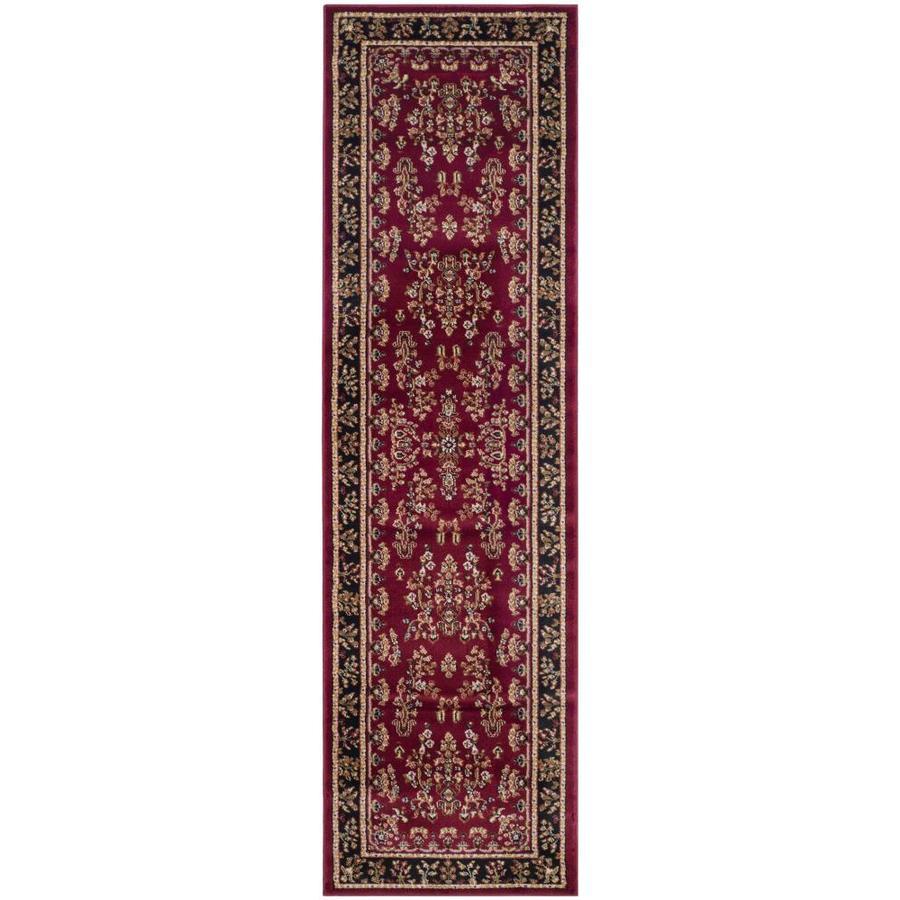 Safavieh Lyndhurst Hamadan Red/Black Indoor Oriental Runner (Common: 2 x 8; Actual: 2.25-ft W x 8-ft L)