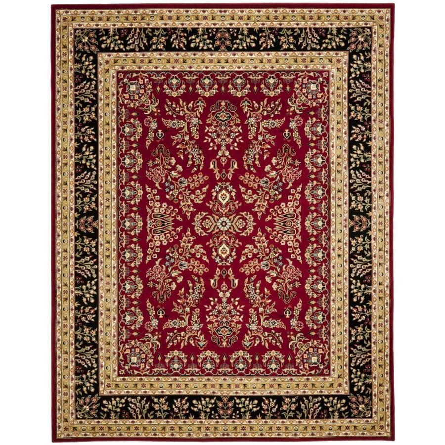 Safavieh Lyndhurst Hamadan Red/Black Indoor Oriental Area Rug (Common: 5 x 8; Actual: 5.25-ft W x 7.5-ft L)