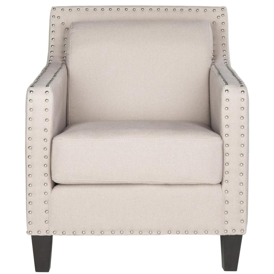 Safavieh Charles Casual Taupe Linen Accent Chair