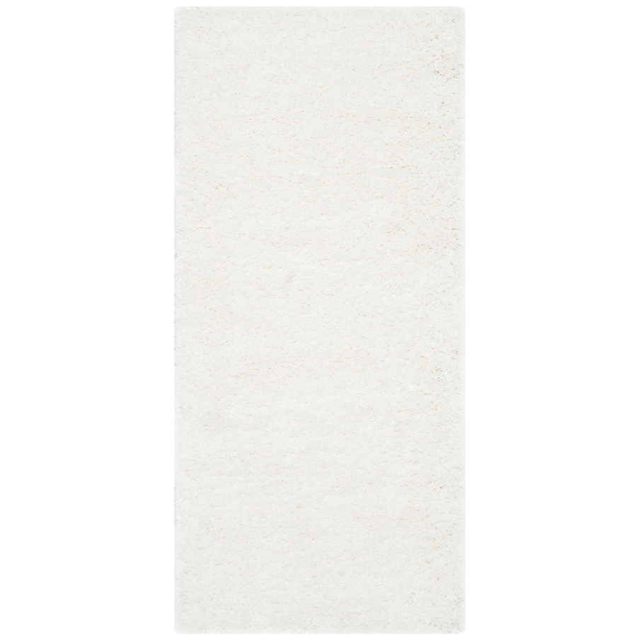 Safavieh California Shag White Rectangular Indoor Machine-made Throw Rug (Common: 2 x 5; Actual: 2.25-ft W x 5-ft L)