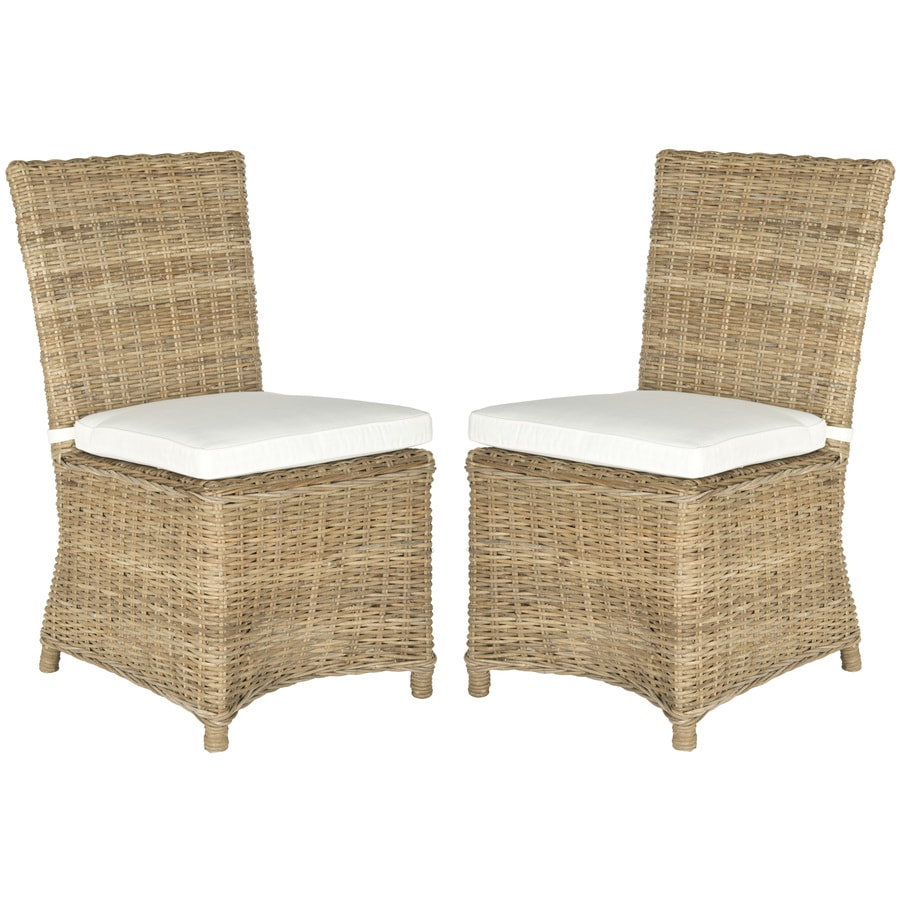 Safavieh Set of 2 Fox Natural Side Chairs