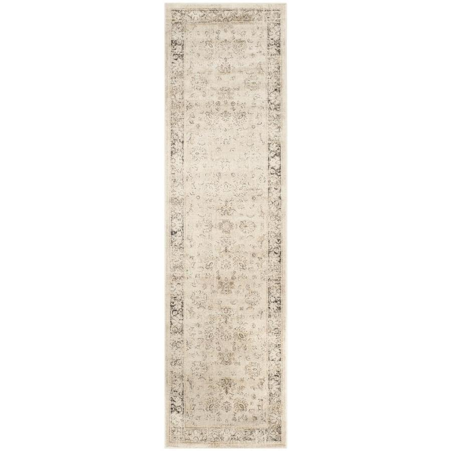 Safavieh Vintage Stone Rectangular Indoor Machine-Made Distressed Runner (Common: 2.3 x 10; Actual: 2.167-ft W x 10-ft L)