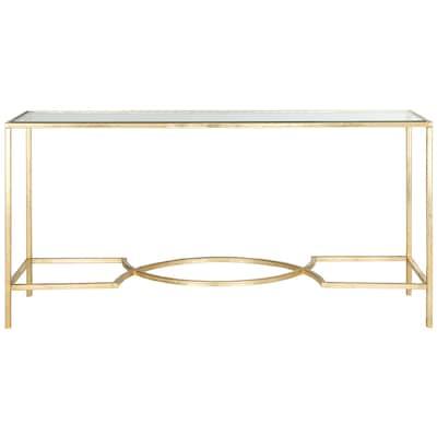 Safavieh Inga Glass Modern Console Table at Lowes com