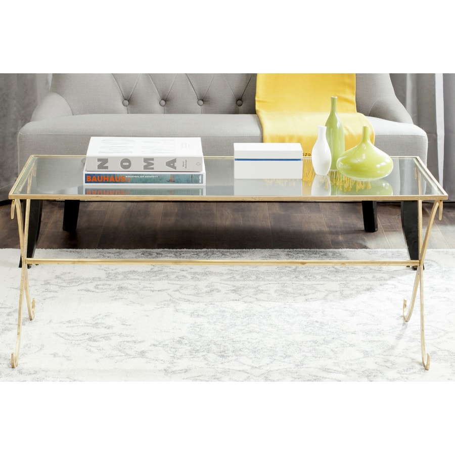 Safavieh Lavar Gold Glass  Coffee Table