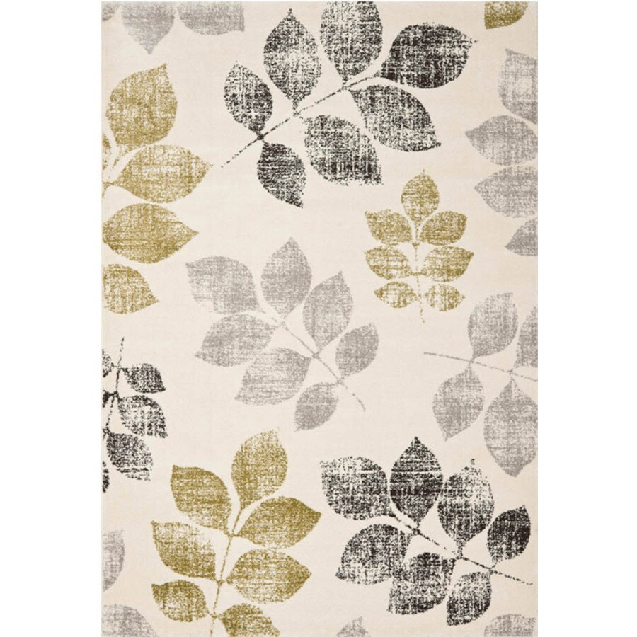 Safavieh Porcello Agoro Ivory/Green Indoor Nature Area Rug (Common: 8 x 11; Actual: 8-ft W x 8-ft L)