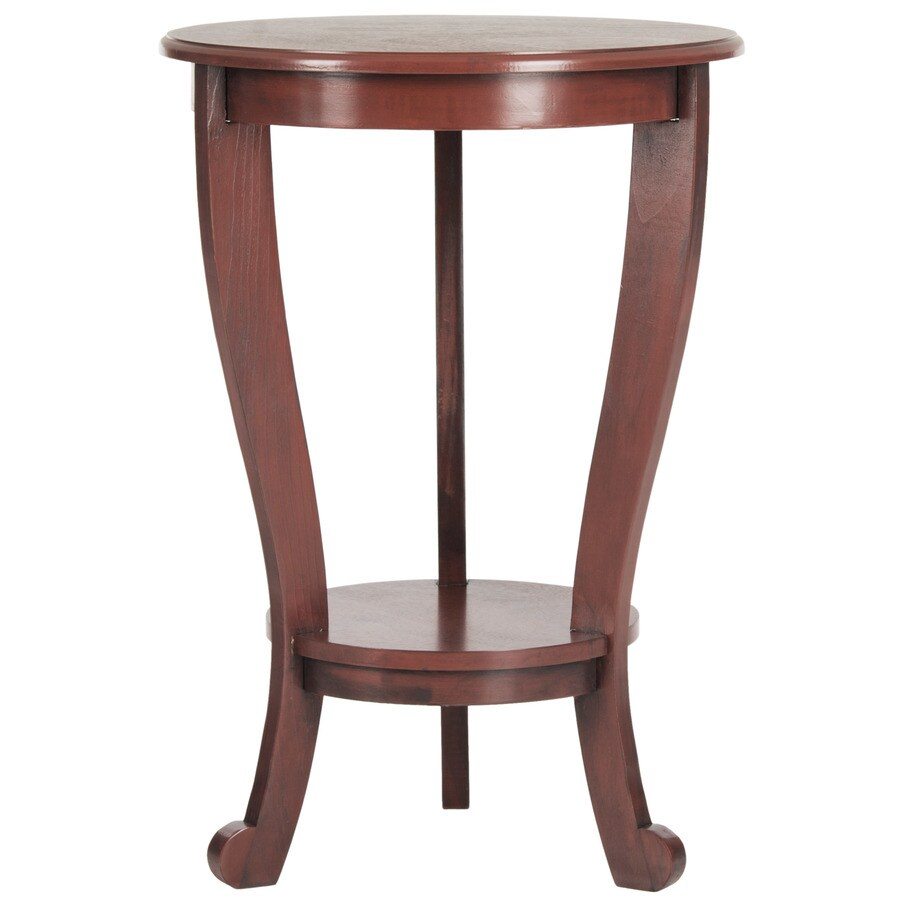 Safavieh American Home Red Pine Round End Table
