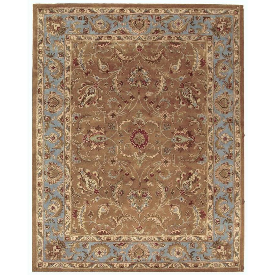 Safavieh Heritage Brown and Blue Rectangular Indoor Tufted Area Rug (Common: 10 x 14; Actual: 114-in W x 162-in L x 1.17-ft Dia)