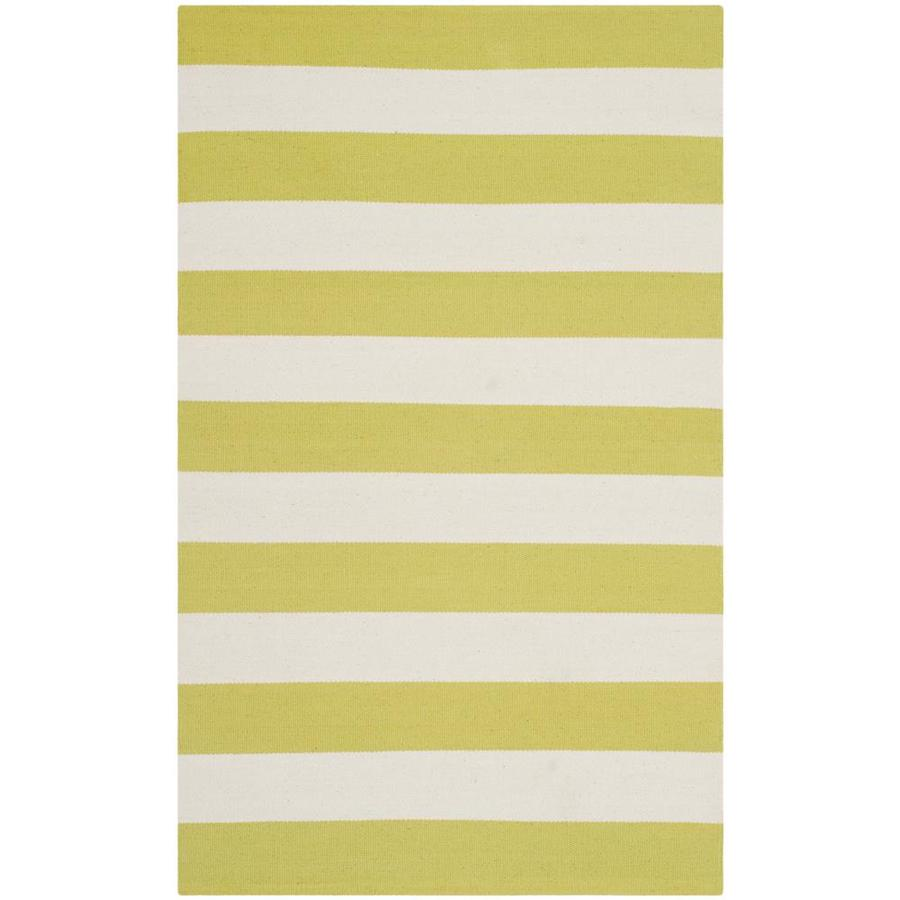 Safavieh Montauk Maslin Green/Ivory Rectangular Indoor Handcrafted Coastal Throw Rug (Common: 3 x 4; Actual: 2.5-ft W x 4-ft L)
