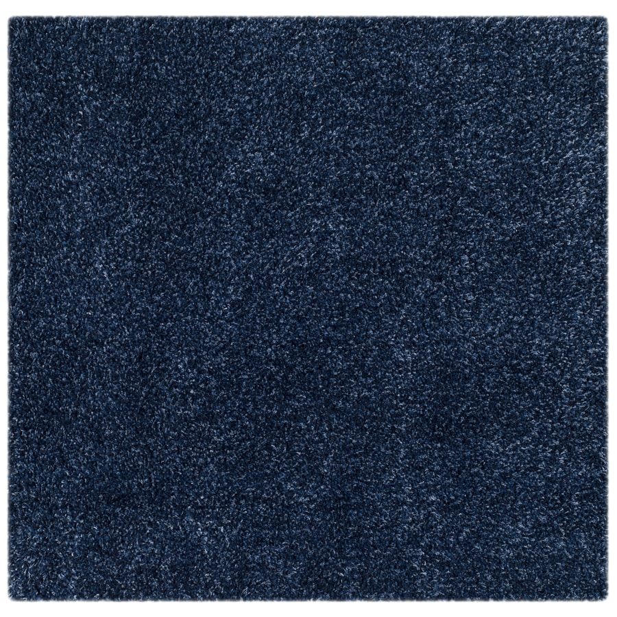 Safavieh California Shag Navy Square Indoor Machine-made Area Rug (Common: 6 x 6; Actual: 6.583-ft W x 6.583-ft L)