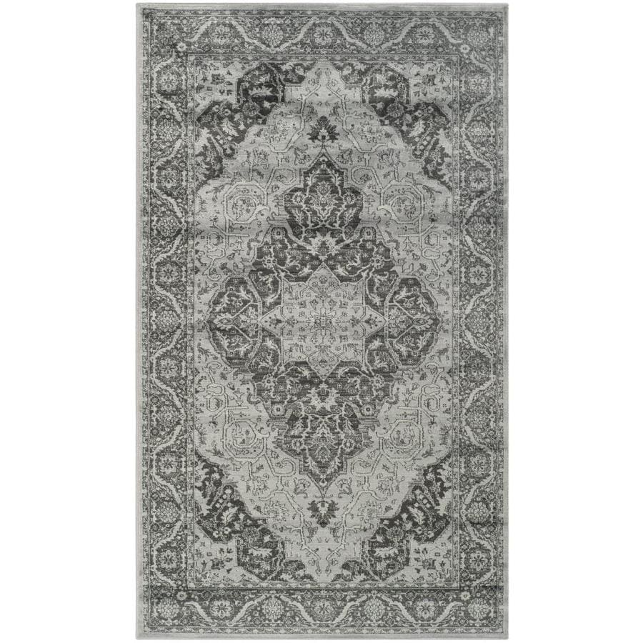 Safavieh Vintage Tabbas Light Blue Indoor Distressed Area Rug (Common: 4 x 6; Actual: 4-ft W x 5.6-ft L)