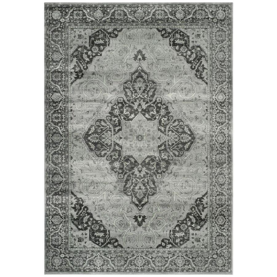 Safavieh Vintage Tabbas Light Blue/Multi Rectangular Indoor Machine-made Distressed Area Rug (Common: 6 x 9; Actual: 6.6-ft W x 9.2-ft L)