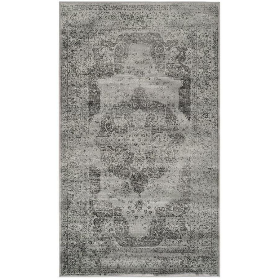 Safavieh Vintage Kerman Gray Indoor Distressed Throw Rug (Common: 2 x 4; Actual: 2.6-ft W x 4-ft L)