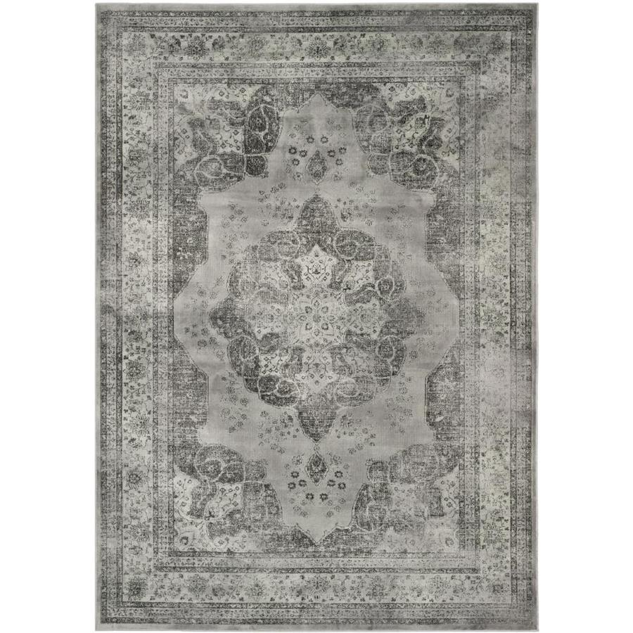 Safavieh Vintage Kerman Gray/Multi Rectangular Indoor Machine-made Distressed Area Rug (Common: 4 x 6; Actual: 4-ft W x 5.6-ft L)