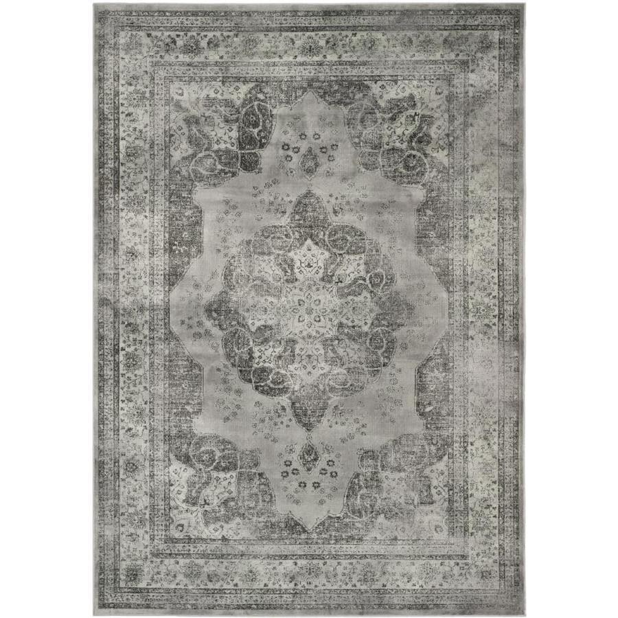Shop Safavieh Vintage Kerman Gray Multi Rectangular Indoor