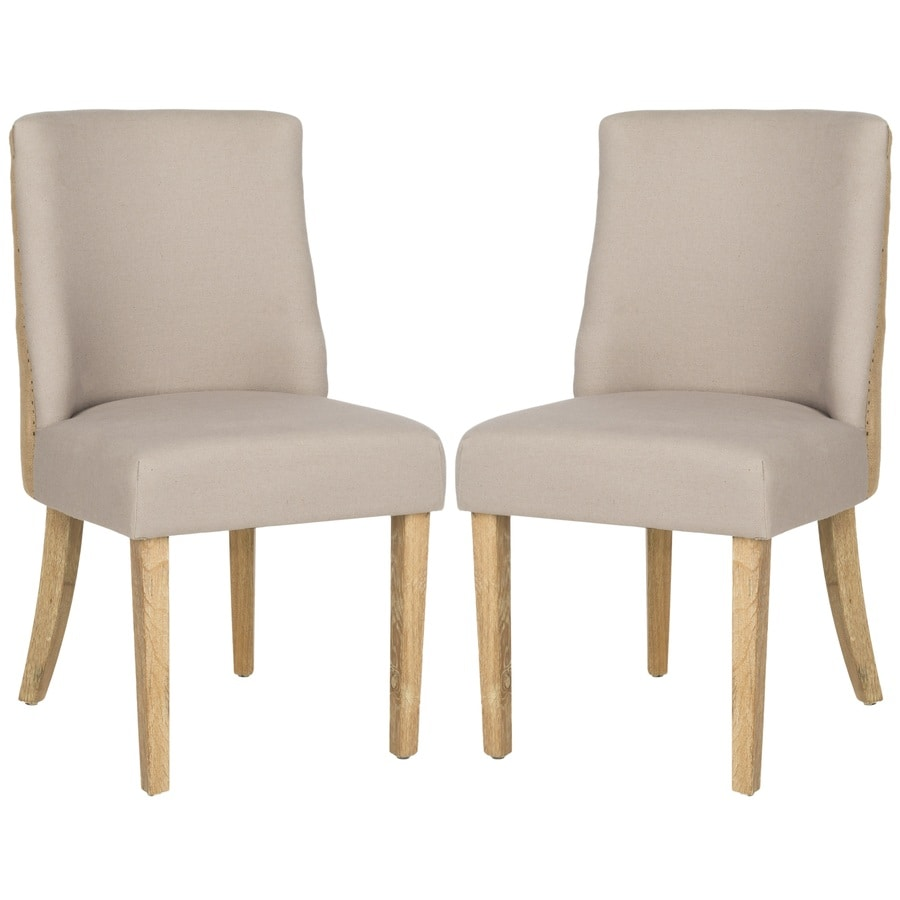 Safavieh Set of 2 Mercer Taupe/Beige Side Chairs