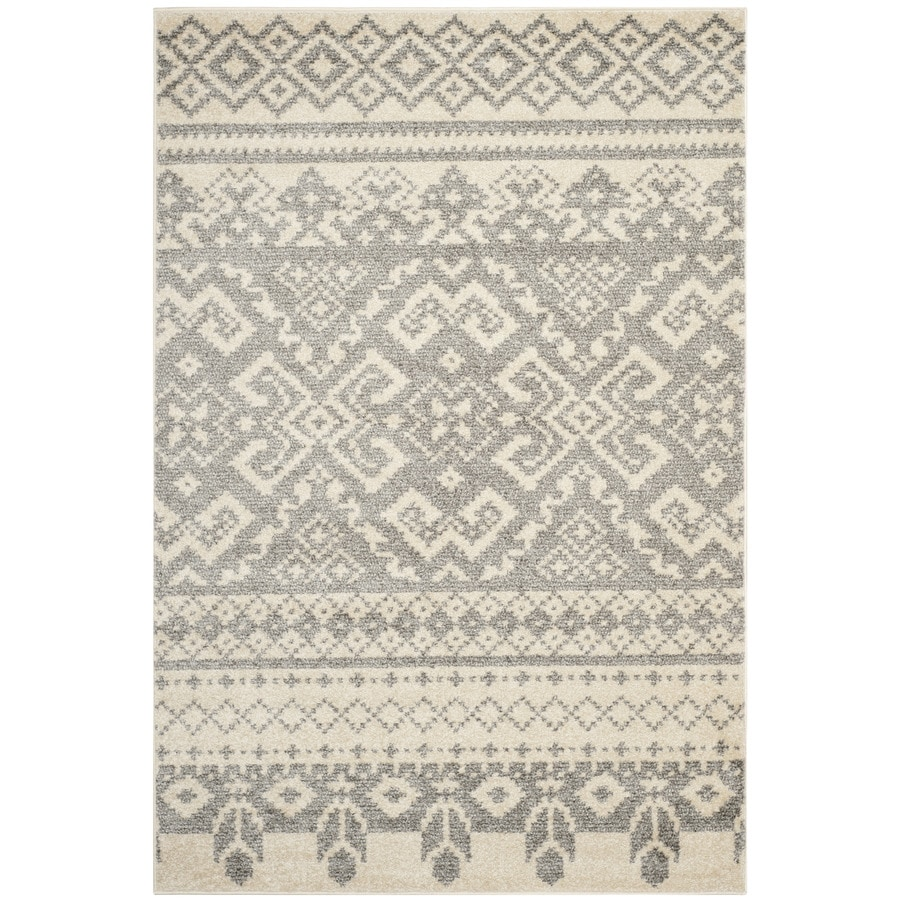 Safavieh Adirondack Taos Ivory/Silver Indoor Lodge Area Rug (Common: 4 x 6; Actual: 4-ft W x 6-ft L)