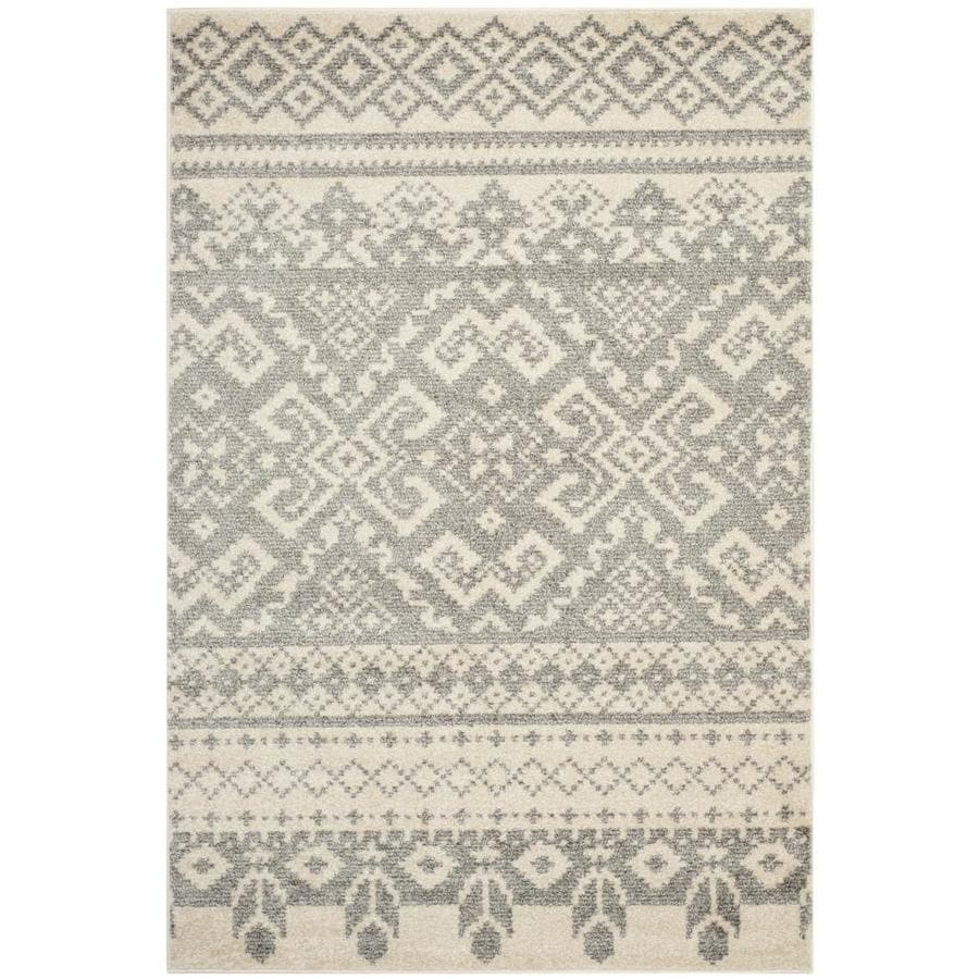 Safavieh Adirondack Taos Ivory/Silver Indoor Lodge Area Rug (Common: 5 x 8; Actual: 5.2-ft W x 7.5-ft L)