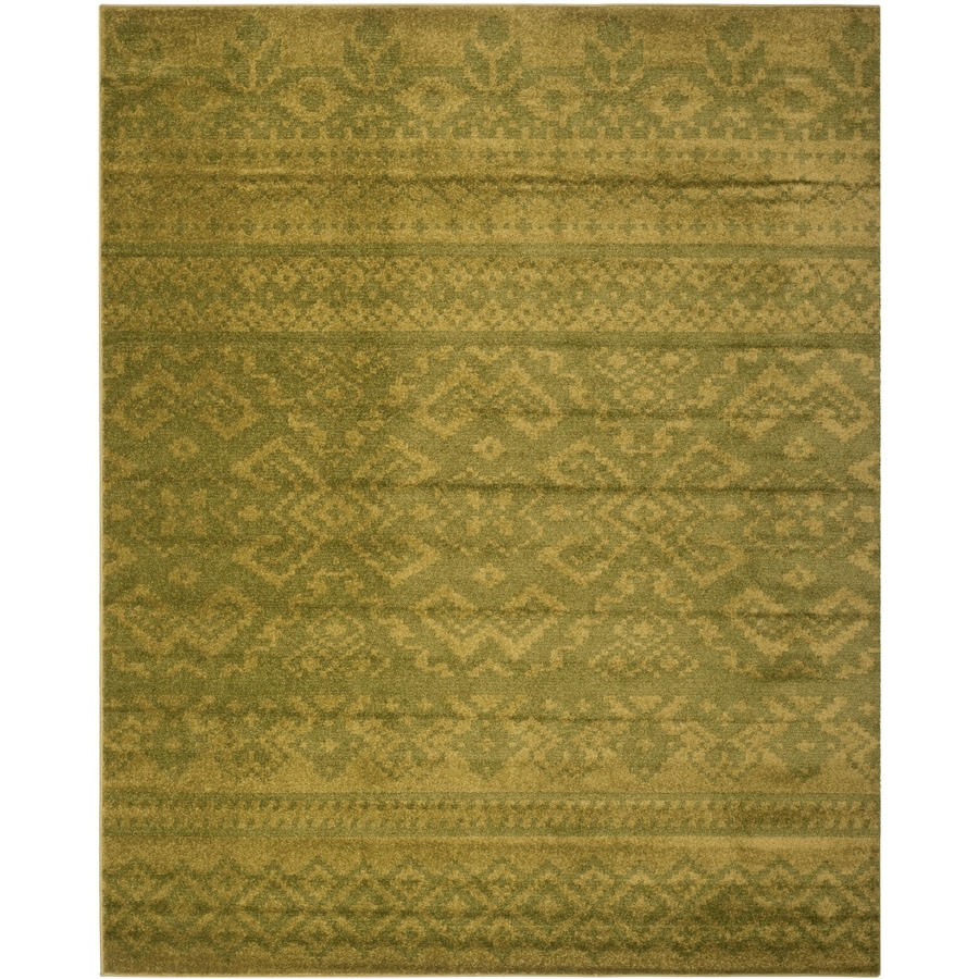 Safavieh Adirondack Green/Dark Green Rectangular Indoor Machine-Made Lodge Area Rug (Common: 8 x 10; Actual: 8-ft W x 10-ft L x 0-ft Dia)