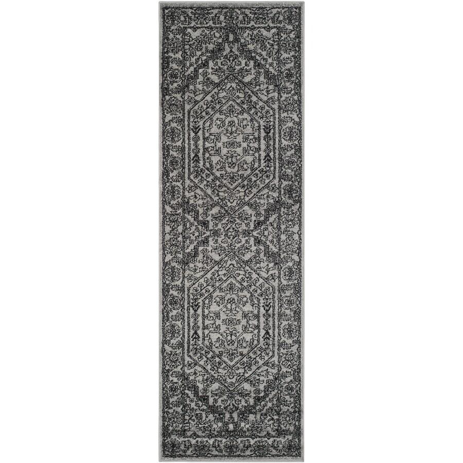 Safavieh Adirondack Herati Silver/Black Indoor Lodge Runner (Common: 2 x 8; Actual: 2.5-ft W x 8-ft L)