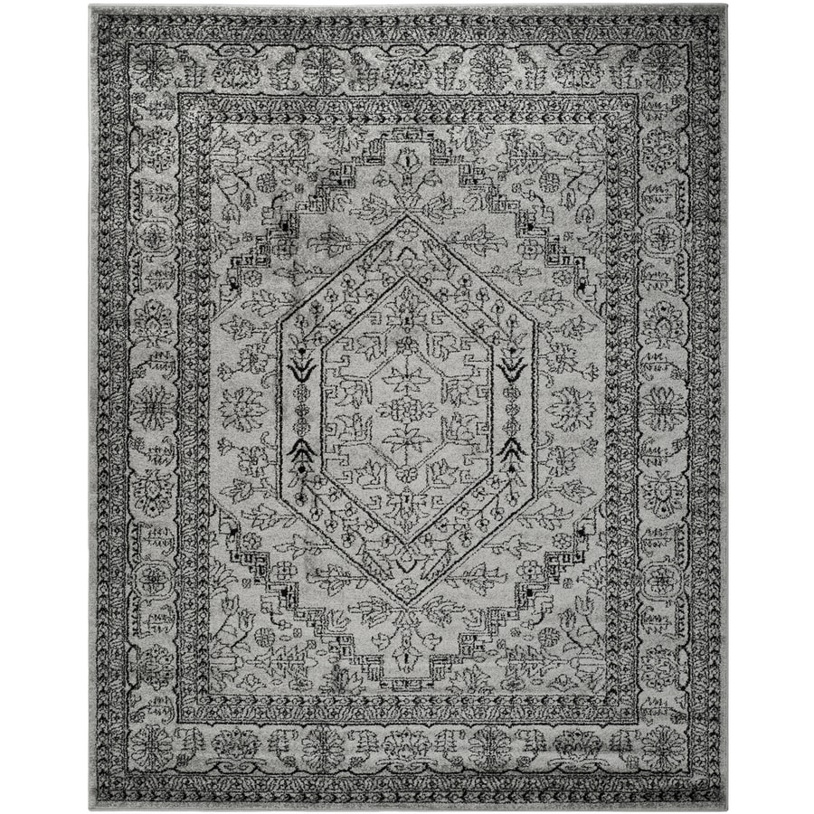 Safavieh Adirondack Herati Silver/Black Rectangular Indoor Machine-Made Lodge Area Rug (Common: 8 x 10; Actual: 8-ft W x 10-ft L)