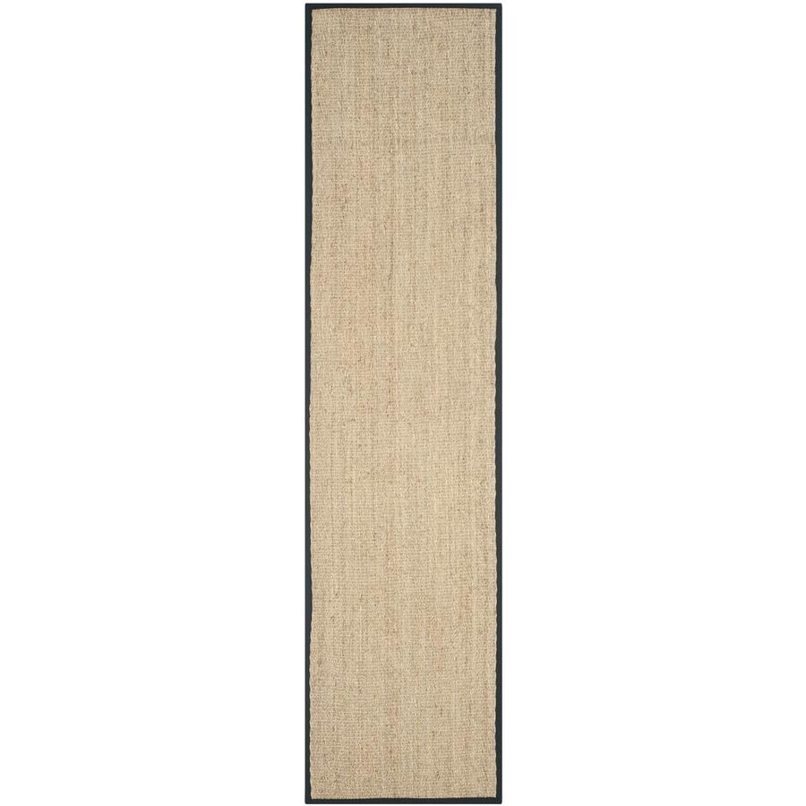 Safavieh Natural Fiber Montauk Natural/Black Indoor Coastal Runner (Common: 2 x 22; Actual: 2.5-ft W x 22-ft L)