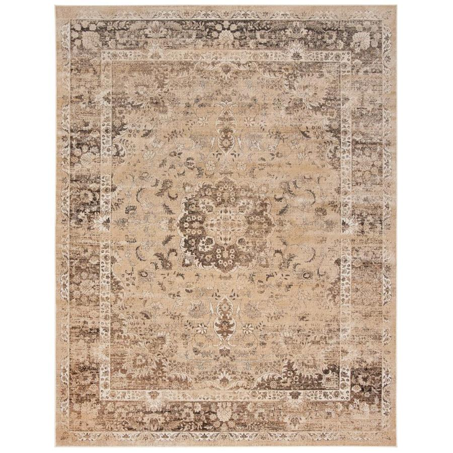 Safavieh Vintage Alhia Warm Beige Rectangular Indoor Machine-made Distressed Area Rug (Common: 7 x 10; Actual: 7.5-ft W x 10.5-ft L)