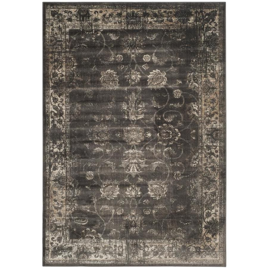 Safavieh Vintage Soft Anthracite Rectangular Indoor Machine-Made Distressed Area Rug (Common: 7 x 10; Actual: 7.5-ft W x 10.5-ft L x 0-ft Dia)