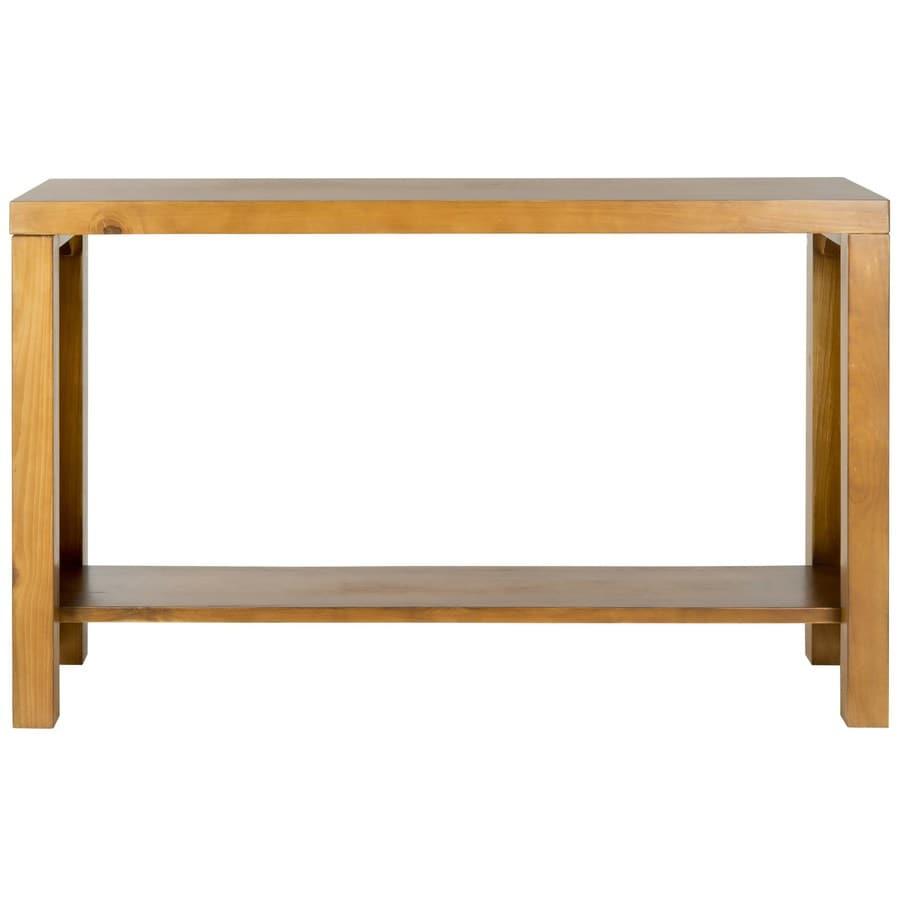Safavieh American Home Light Oak Pine Rectangular Console And Sofa Table