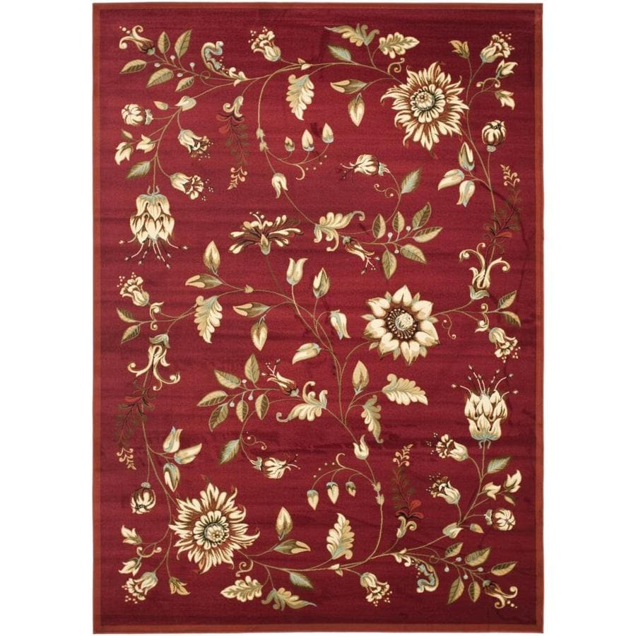 Safavieh Lyndhurst Red and Multicolor Rectangular Indoor Machine-Made Area Rug (Common: 6 x 9; Actual: 79-in W x 114-in L x 0.67-ft Dia)