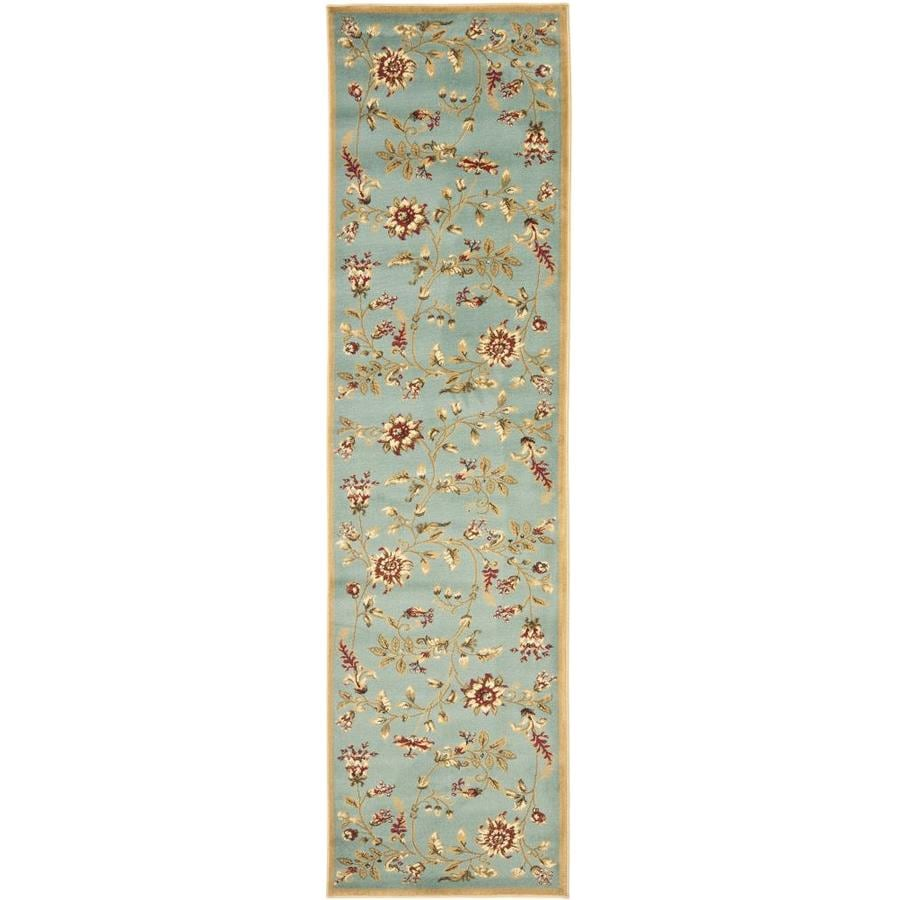 Safavieh Lyndhurst Floral Swirl Blue/Multi Rectangular Indoor Machine-made Nature Runner (Common: 2 x 12; Actual: 2.25-ft W x 12-ft L)