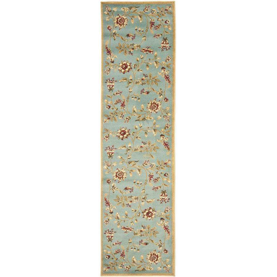 Safavieh Lyndhurst Floral Swirl Blue/Multi Rectangular Indoor Machine-made Nature Runner (Common: 2 x 16; Actual: 2.25-ft W x 16-ft L)