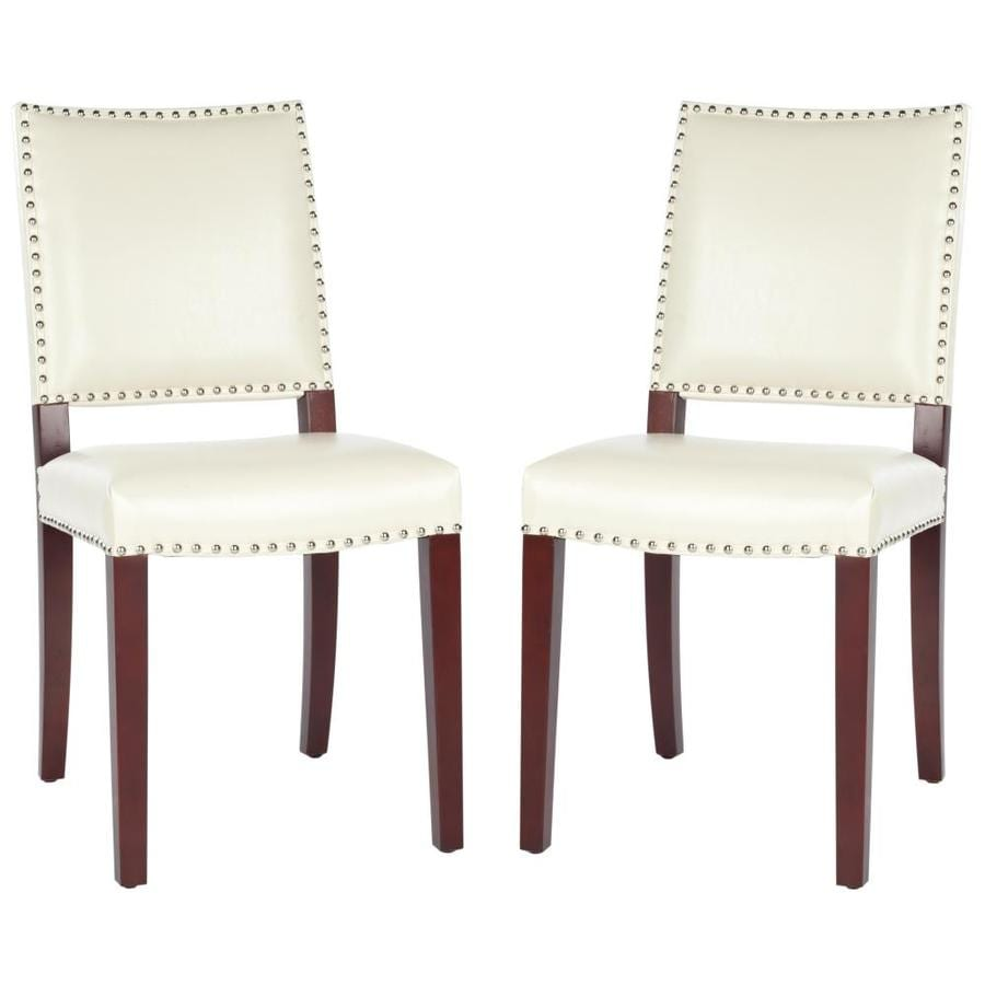 Safavieh Set of 2 Mercer Cream Accent Chairs