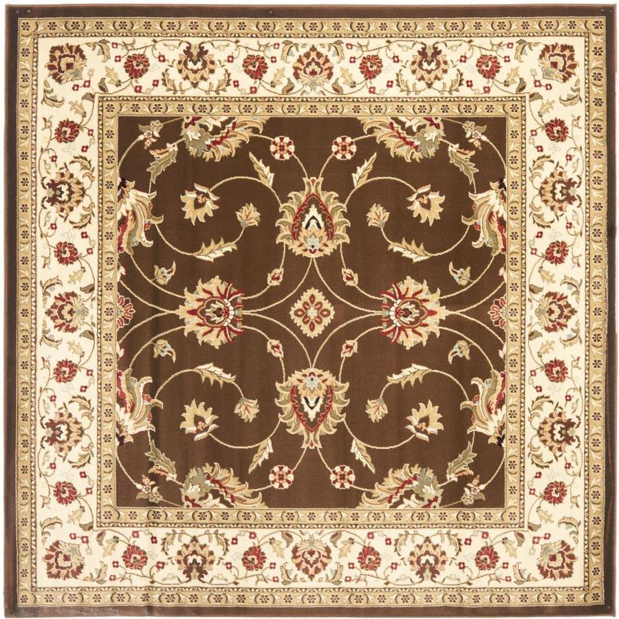 Safavieh Lyndhurst Agra Brown/Ivory Square Indoor Oriental Area Rug (Common: 7 x 7; Actual: 6.7-ft W x 6.6-ft L)