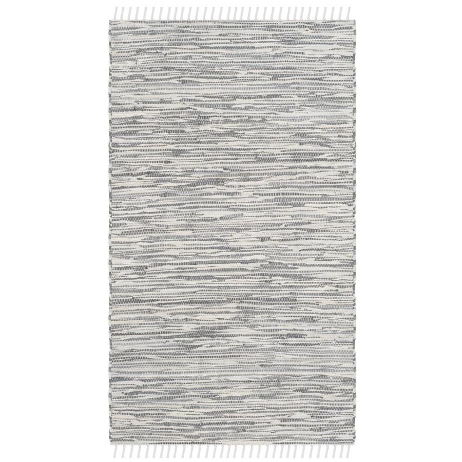 Safavieh Montauk Caspar Silver Indoor Handcrafted Coastal Throw Rug (Common: 3 x 5; Actual: 3-ft W x 5-ft L)