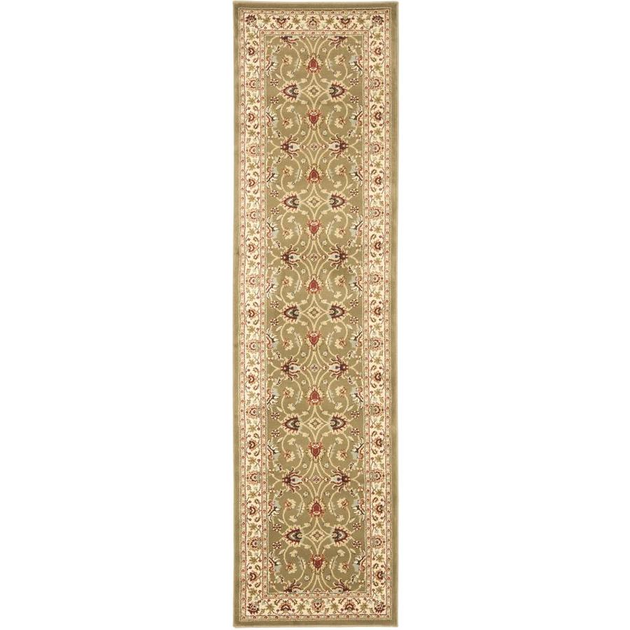 Safavieh Lyndhurst Agra Green/Ivory Indoor Oriental Runner (Common: 2 x 16; Actual: 2.25-ft W x 16-ft L)
