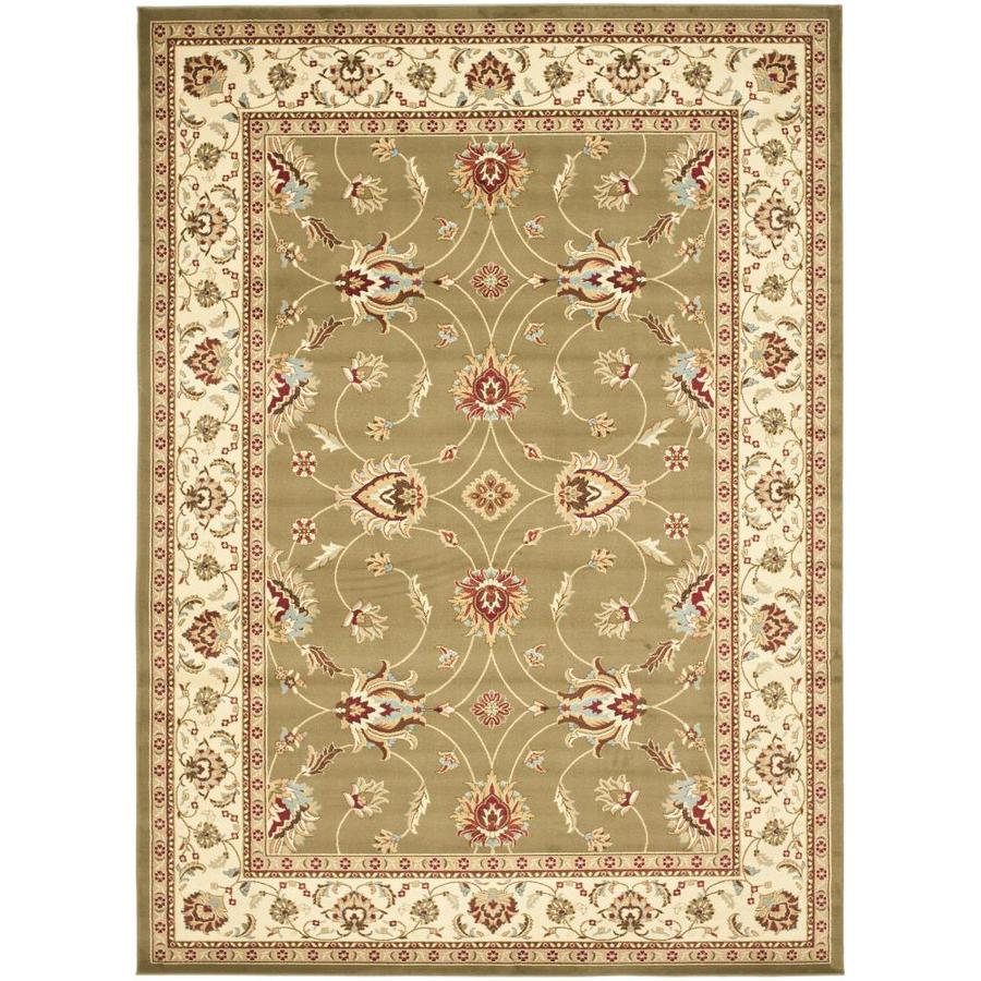 Safavieh Lyndhurst Agra Green/Ivory Indoor Oriental Area Rug (Common: 7 x 10; Actual: 6.7-ft W x 9.5-ft L)