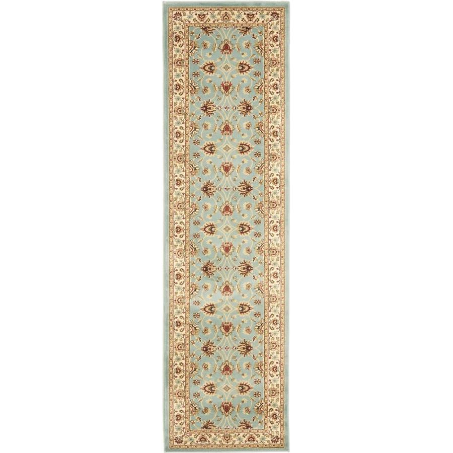 Safavieh Lyndhurst Agra Blue/Ivory Indoor Oriental Runner (Common: 2 x 12; Actual: 2.25-ft W x 12-ft L)