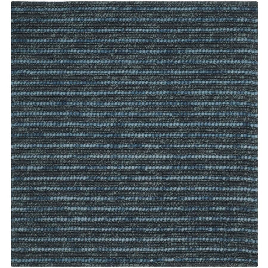 Safavieh Bohemian Dark Blue/Multi Square Indoor Handcrafted Lodge Area Rug (Common: 6 x 6; Actual: 6-ft W x 6-ft L)