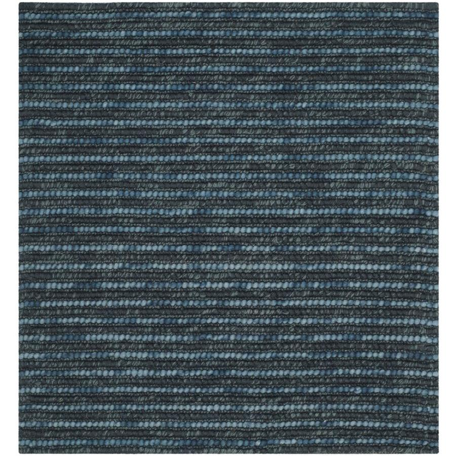 Safavieh Bohemian Dark Blue/Multi Square Indoor Hand-Knotted Lodge Area Rug (Common: 6 x 6; Actual: 6-ft W x 6-ft L)