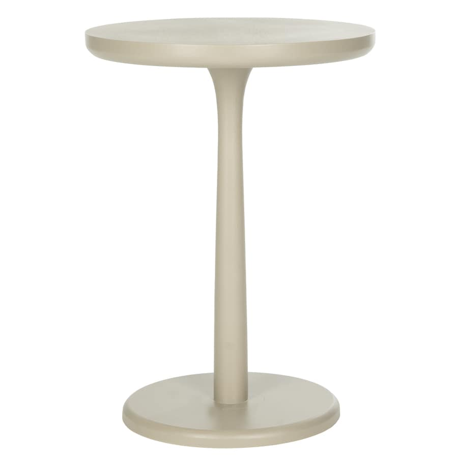 Safavieh American Home Pearl Taupe Round End Table