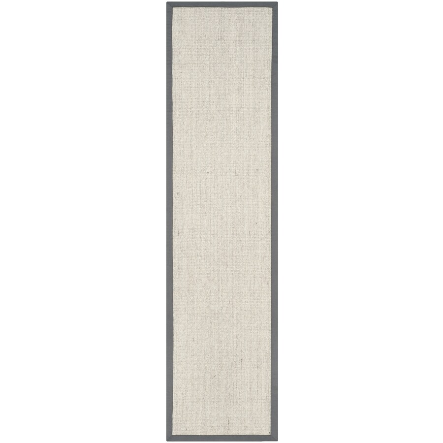Safavieh Natural Fiber Saltaire Marble/Gray Indoor Coastal Runner (Common: 2 x 18; Actual: 2.5-ft W x 18-ft L)