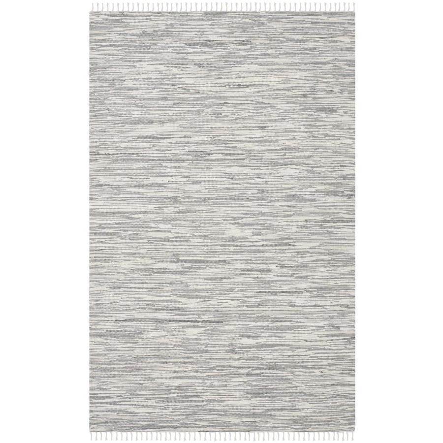 Safavieh Montauk Caspar Silver Indoor Handcrafted Coastal Area Rug (Common: 5 x 7; Actual: 5-ft W x 7-ft L)