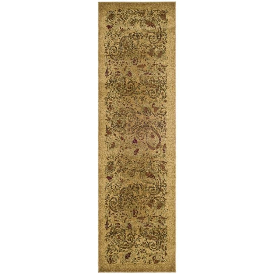 Safavieh Lyndhurst Paisley Life Beige/Multi Rectangular Indoor Machine-made Runner (Common: 2 x 14; Actual: 2.25-ft W x 14-ft L)