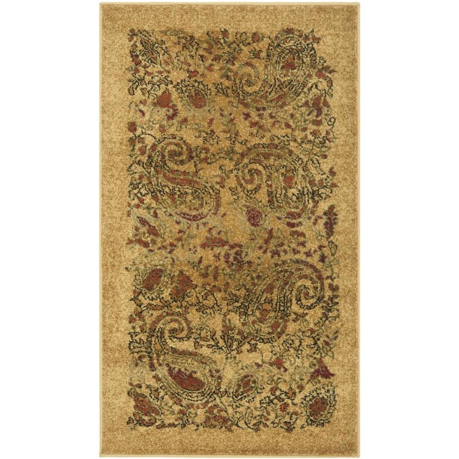 Safavieh Lyndhurst Paisley Life Beige/Multi Rectangular Indoor Machine-made Runner (Common: 2 x 6; Actual: 2.25-ft W x 6-ft L)