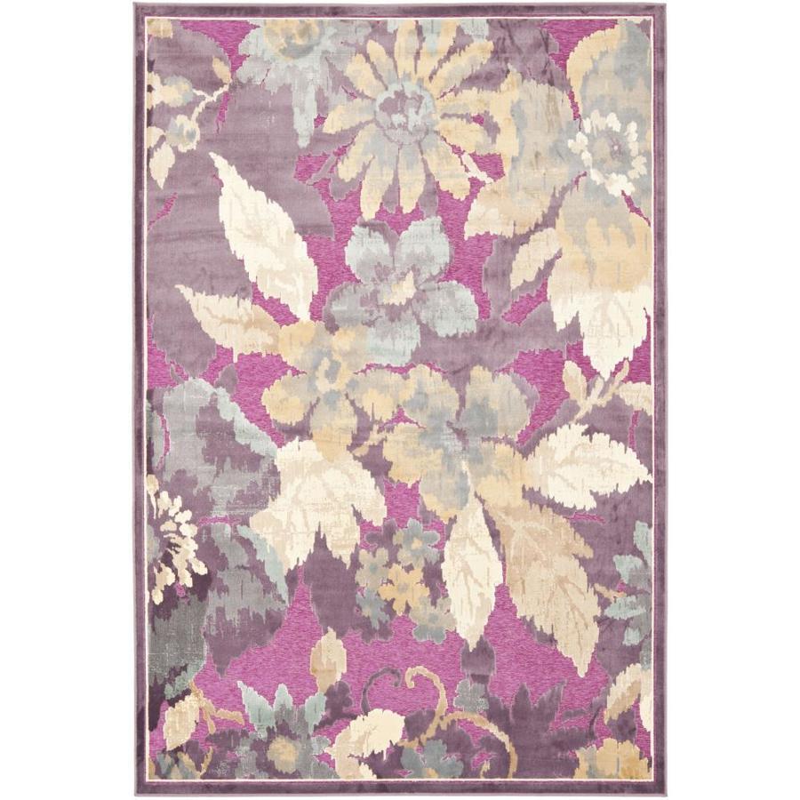Safavieh Paradise Kendrick Purple/Fuchsia Indoor Oriental Throw Rug (Common: 3 x 5; Actual: 3.25-ft W x 5.6-ft L)