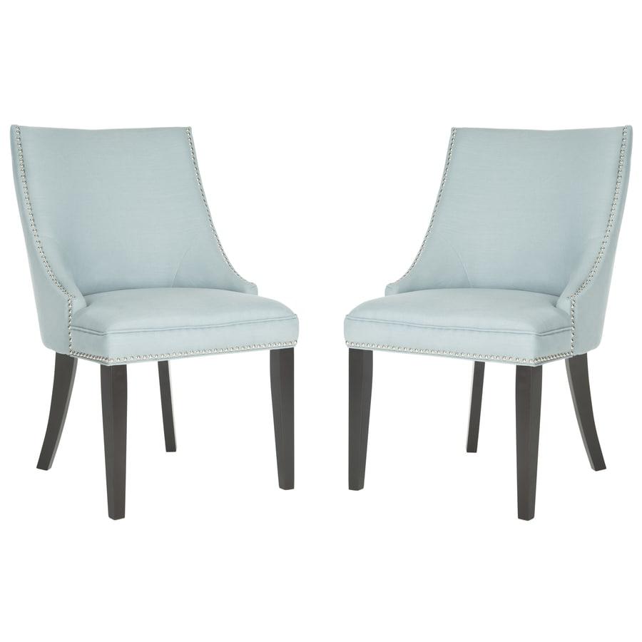 Safavieh Set of 2 Mercer Light Blue Side Chairs