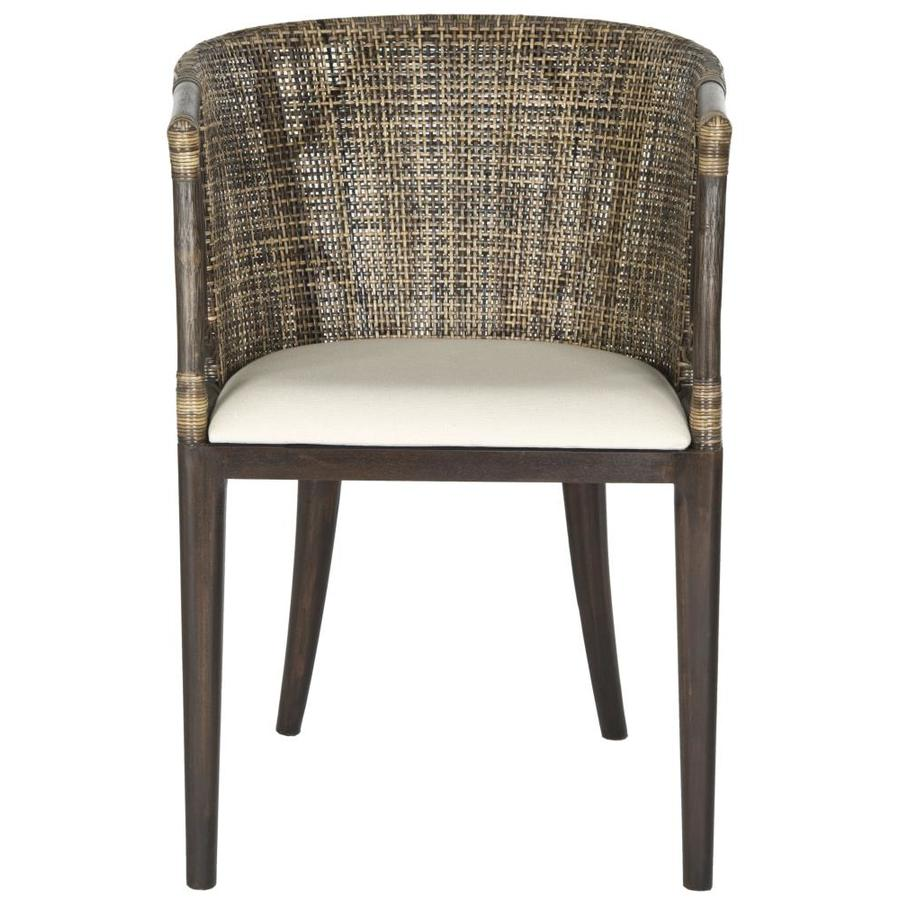 Safavieh Beningo Coastal Brown/Black Accent Chair
